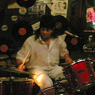 The Lemming - The Lemming drummer Tony Gloudie at the last opening night of Café de Beukelsbrug in Rotterdam (27 June 2009).