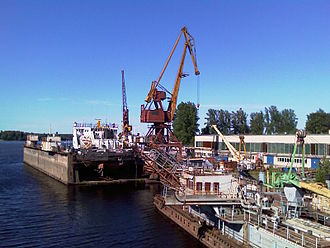 Otradnoye, Kirovsky District, Leningrad Oblast - Shipyard at the Tosna River estuary in Otradnoye