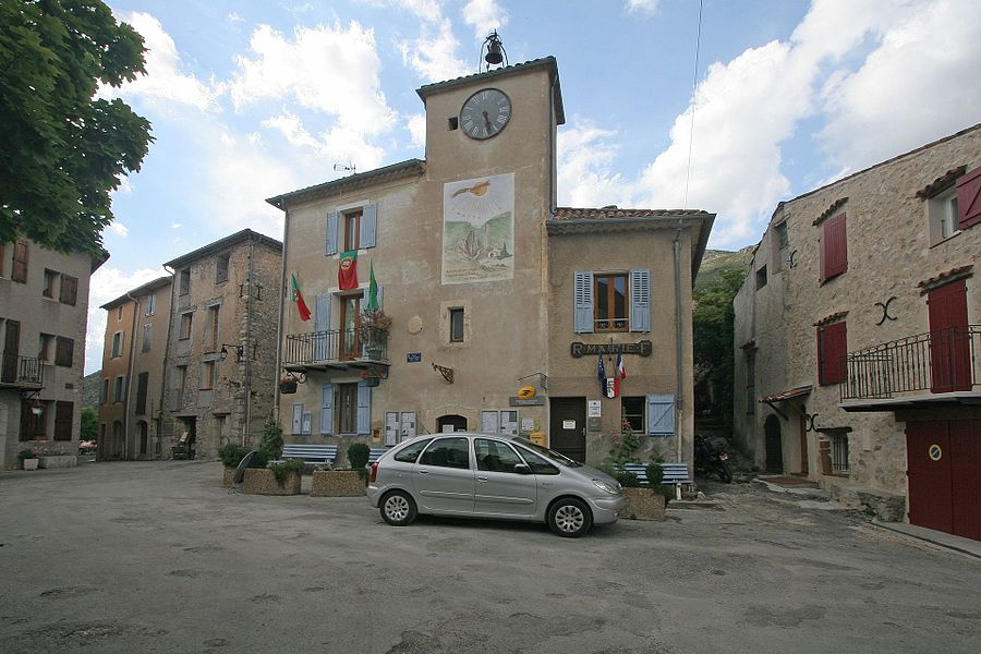 Town hall of Rougon  Camera location  43° 47′ 56.66″ N, 6° 24′ 07.95″ E   View this and other nearby images on: OpenStreetMap - Google Earth    43.799071;    6.402208