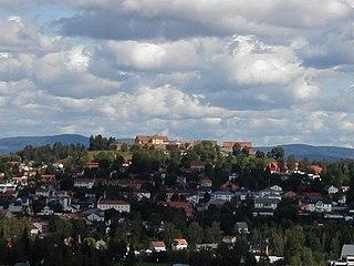 Kongsvinger Fortress building in Kongsvinger, Hedmark, Norway