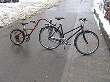 cykel med stort hjul