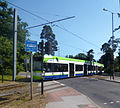 Tram on the Road (geograph 3705502).jpg
