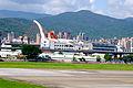 TransAsia Airways ATR 72-212A B-22807 on Final Approach at Taipei Songshan Airport 20150908b.jpg