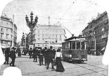 Fotografia di Madrid al principio del Novecento
