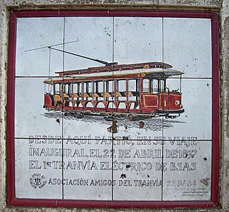 Edward Manville - Memorial of first electric tram in Buenos Aires