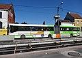Travaux de la branche vers Vieux-Condé de la ligne B du tramway de Valenciennes en mai 2013 (053).JPG