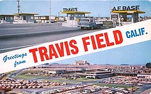 A Travis Air Force Base postcard dating from the 1970s.