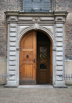 Trinitatis Church - The northwest portal from 1870.