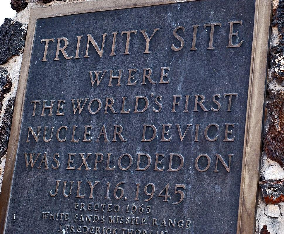 Trinity site plaque