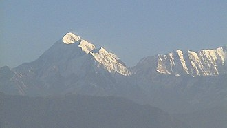 Kausani - Trisul mountain as viewed from Kausani
