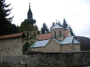 Battle of Loznica (1941) - Image: Tronoša monastery