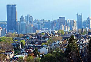 Vue de Troy Hill du nord-est avril 2014
