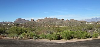 Tucson Mountains - Image: Tucson Mountains Foothills Arizona 2014