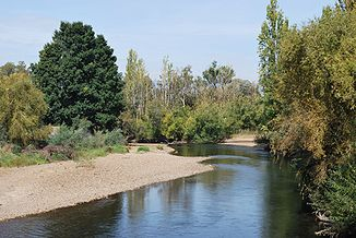 Der Tumut River bei Tumut