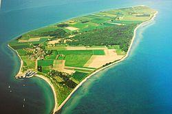 Luftfoto af Tunø
