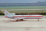 Tupolev Tu-154B YR-TPC Tarom Vienna 07.05.77.jpg