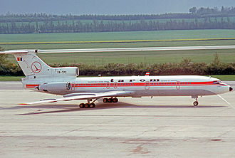 TAROM - TAROM Tupolev Tu-154B at Vienna Airport in 1977