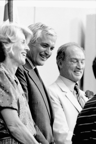 John Turner - Geills Turner, John Turner and Pierre Trudeau at the 1984 Liberal leadership convention