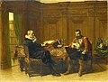 Twee mannen in een zeventiende-eeuws interieur, genaamd 'Eene conferentie' Rijksmuseum SK-A-1076.jpeg