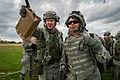 U.S. Air Force Capt. Jody Crisp, left, a health services administrator with the 18th Aeromedical Evacuation Squadron (AES), Kadena Air Base, Okinawa, Japan, and Lt. Col. Monsita Faley, a flight nurse with 140314-F-XL333-172.jpg