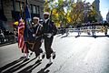 U.S. Sailors assigned to the color guard of the amphibious transport dock ship USS New York (LPD 21) lead the ship's delegation in New York City's 2013 Veterans Day Parade, also known as America's Parade 131111-N-YF306-296.jpg