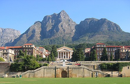 University of Cape Town's main campus UCT Upper Campus landscape view.jpg