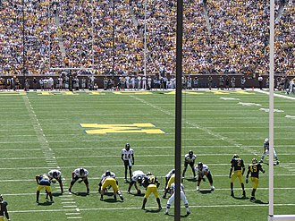 2007 Appalachian State vs. Michigan football game - Appalachian State lined up against the Michigan defense