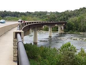 U.S. Route 340 in West Virginia - Bridge carrying US-340 over the Shenandoah River in Harpers Ferry, West Virginia. This bridge also carries the Appalachian Trail over the river.