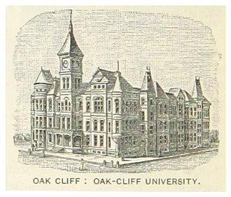 Oak Cliff - Image: US TX(1891) p 826 OAK CLIFF, OAK CLIFF UNIVERSITY