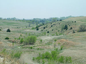 Ashfall Fossil Beds - Hills surrounding the fossil beds