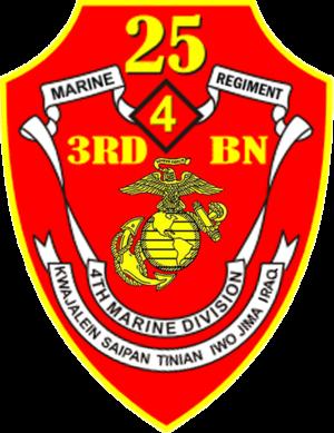 3rd Battalion, 25th Marines - 3/25 Insignia
