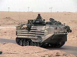 AAV-7A1 outside of Fallujah, Iraq in 2005