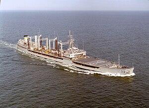 USS Waccamaw (AO-109) - Image: USNS Waccamaw (T AO 109) 1984