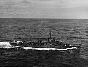 USS Allen M. Sumner (DD-692) underway in the Atlantic Ocean on 26 March 1944 (NH 86272)