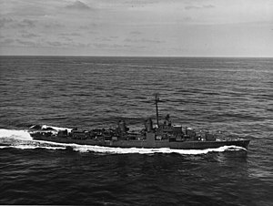 USS Allen M. Sumner (DD-692) underway in the Atlantic Ocean on 26 March 1944 (NH 86272).jpg