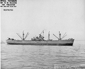 USS Ascella (AK-137) - Broadside view of USS Ascella (AK-137) off San Francisco, CA., 13 January 1944.
