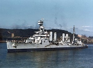 Panama during World War II - The light cruiser USS ''Concord'' off Balboa, Panama, on January 6, 1943.