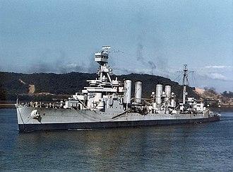 Panama during World War II - The light cruiser USS ''Concord'' off Balboa, Panama, on January 6, 1943.