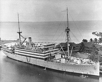 USS Henderson (AP-1) - USS Henderson (AP-1) at Coco Solo, Panama Canal Zone, 6 January 1933