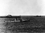 USS Hornet (CV-8), USS New Orleans (CA-32) and USS Atlanta (CL-51) at sea on 6 June 1942 (80-G-88908).jpg