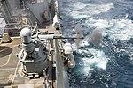 USS Howard fires its Mk. 38 Mod. 2 machine gun during a live-fire exercise. (36009631892).jpg