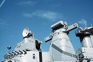 USS Iowa gunfire control radars.jpg