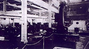 USS Medusa (AR-1) - The machine shop of Medusa around the time of her commissioning in 1924.