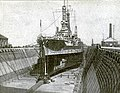 USS Mississippi (BB-41) in drydock San Francisco 1920.JPG