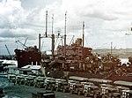 USS St. George (AV-16) at Guam on 8 August 1945 (80-G-K-5978).jpg