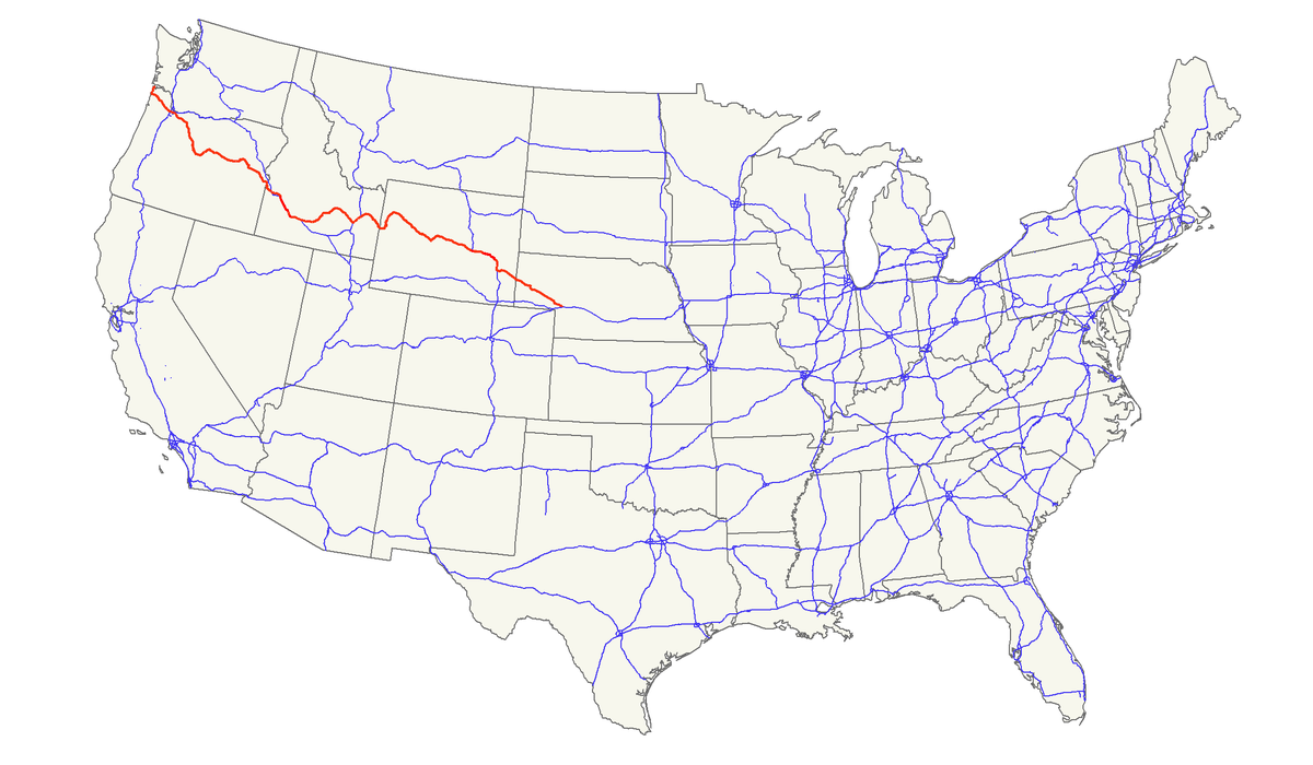 US Route Wikipedia - Us map of highways