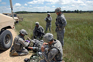 340th Infantry Regiment (United States) - Image: US Army 51746 1st, 338th provides training, support at Fort Mc Coy to deploying units