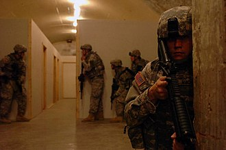 West Fort Hood - 3rd Combined Arms Battalion conducting subterranean training in West Fort Hood, 2008