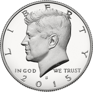 United States coin worth 50 cents