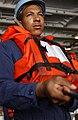 US Navy 040512-N-5821P-001 Seaman Andrew Johnson of Memphis, Tenn., keeps tension on a phone line.jpg